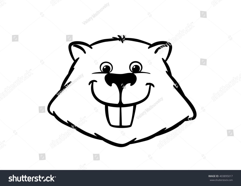beaver head stock vector 403895017 shutterstock