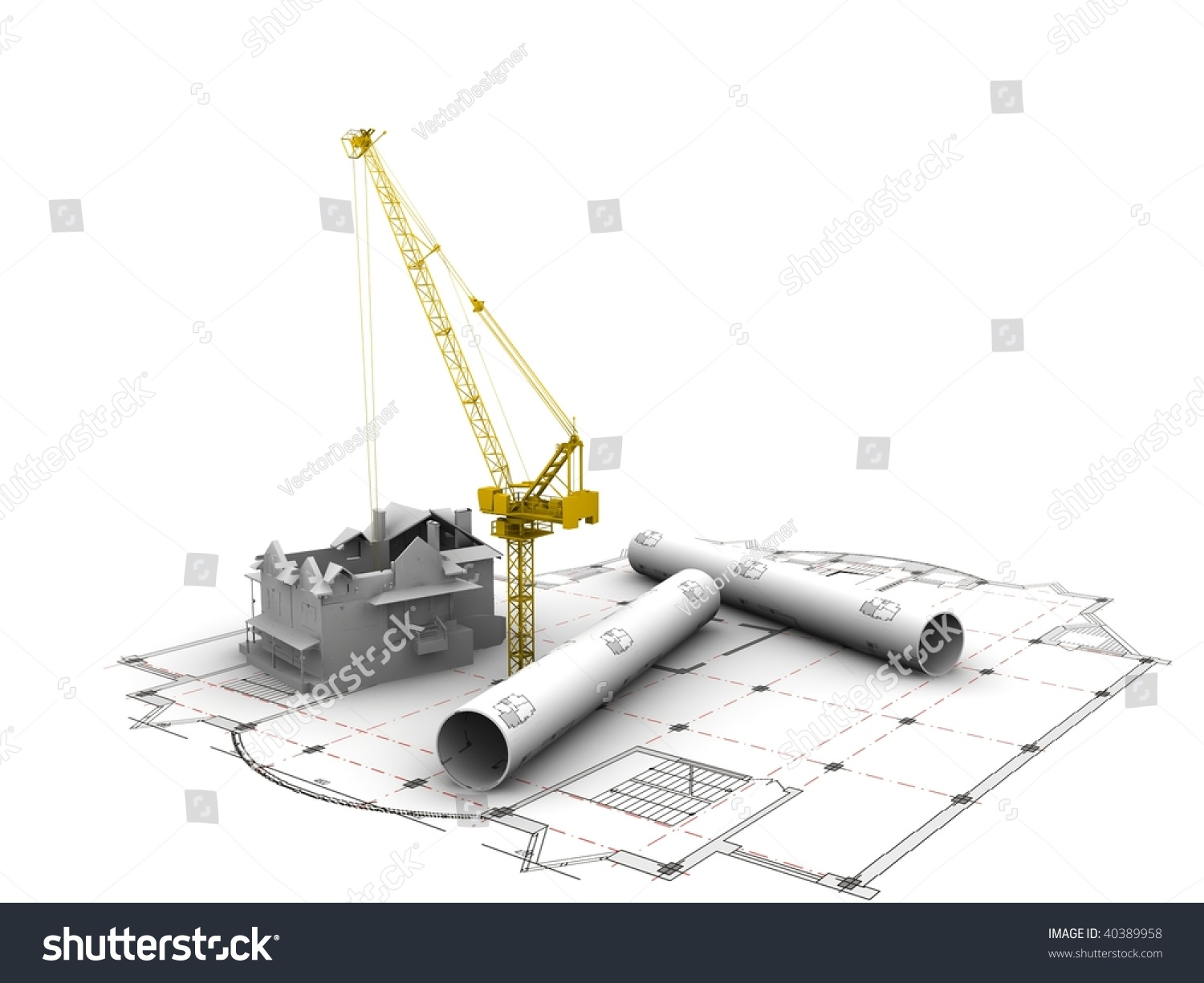 3d plan drawing stock photo 40389958 shutterstock for 3d plan drawing
