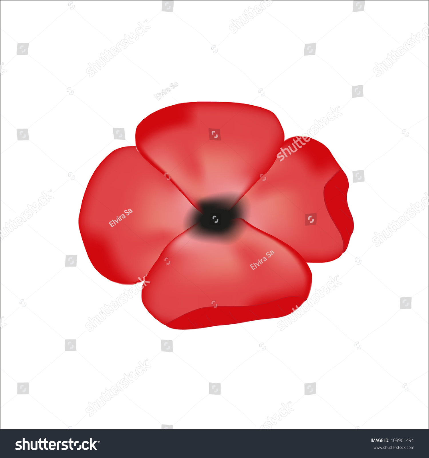 Poppy flower symbol remembrance stock vector 403901494 shutterstock poppy flower symbol of remembrance buycottarizona