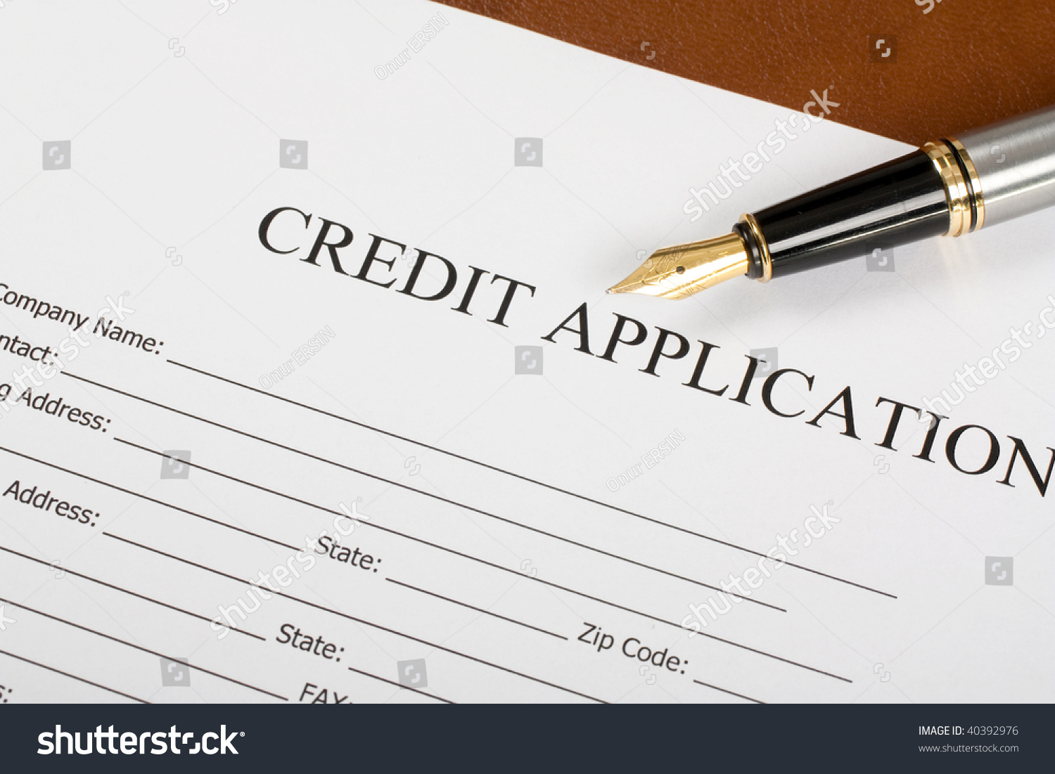 Blank Credit Application Form Pen On Photo 40392976 – Credit Application