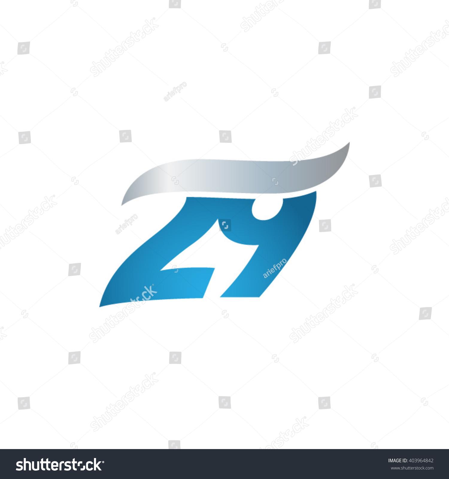 Number 29 Swoosh Design Template Logo Stock Vector ...