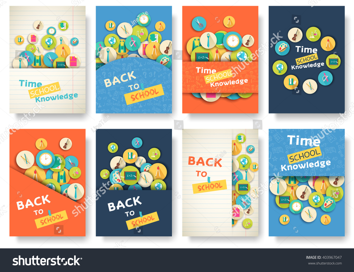 Back school information pages set education stock vector 403967047 back to school information pages set education template of flyear magazines posters pronofoot35fo Gallery