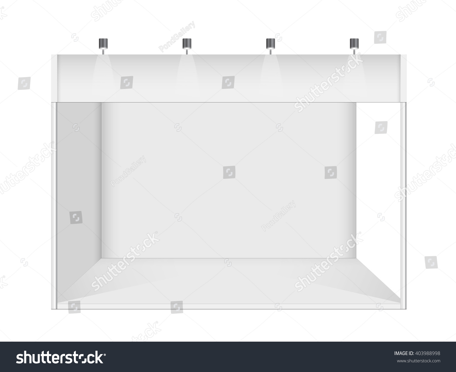 Exhibition Stand Design Vector : Exhibition stand design booth template white stock vector