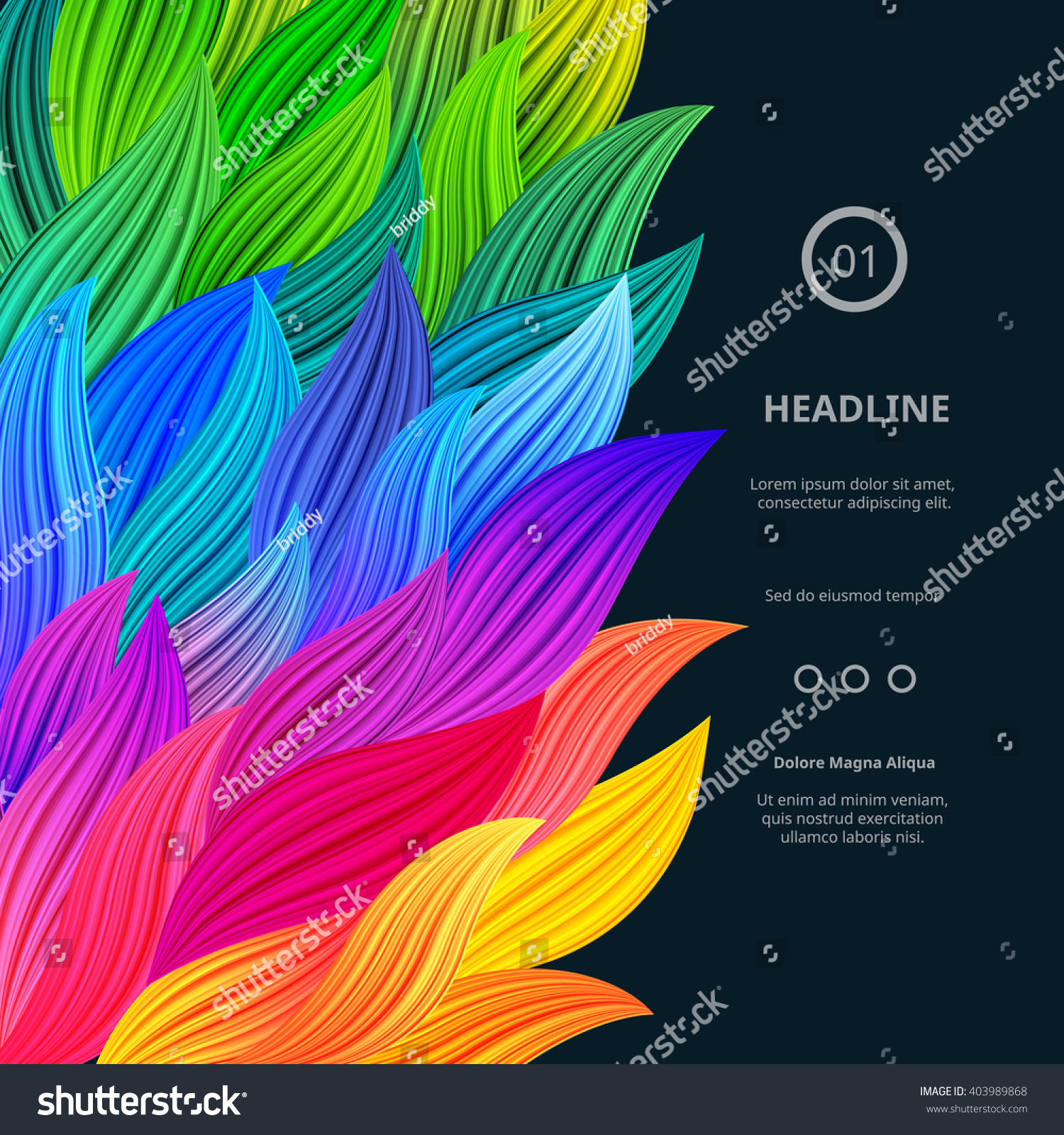 Awesome Bright Colorful Borders. Vector Gradient