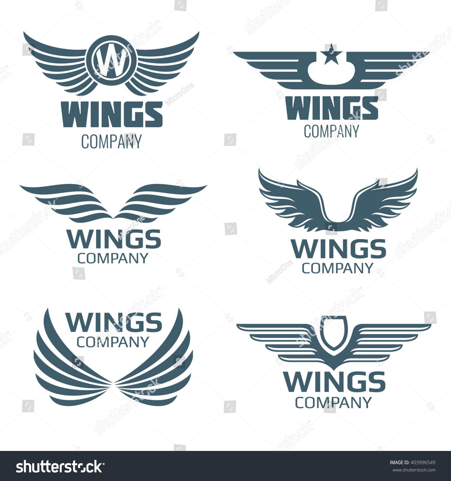 Vector Wings Logo Set Winged Logo Stock Vector 403996549 ...