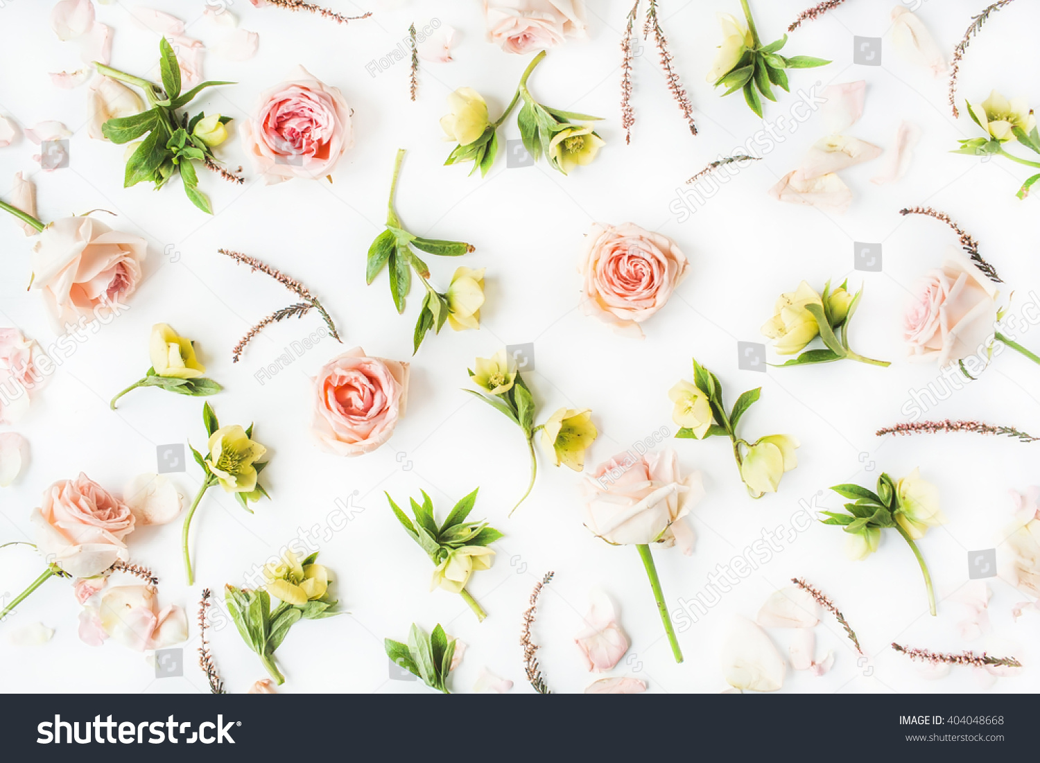 Wallpaper Texture Pink Roses Yellow Flowers Stock Photo Edit Now