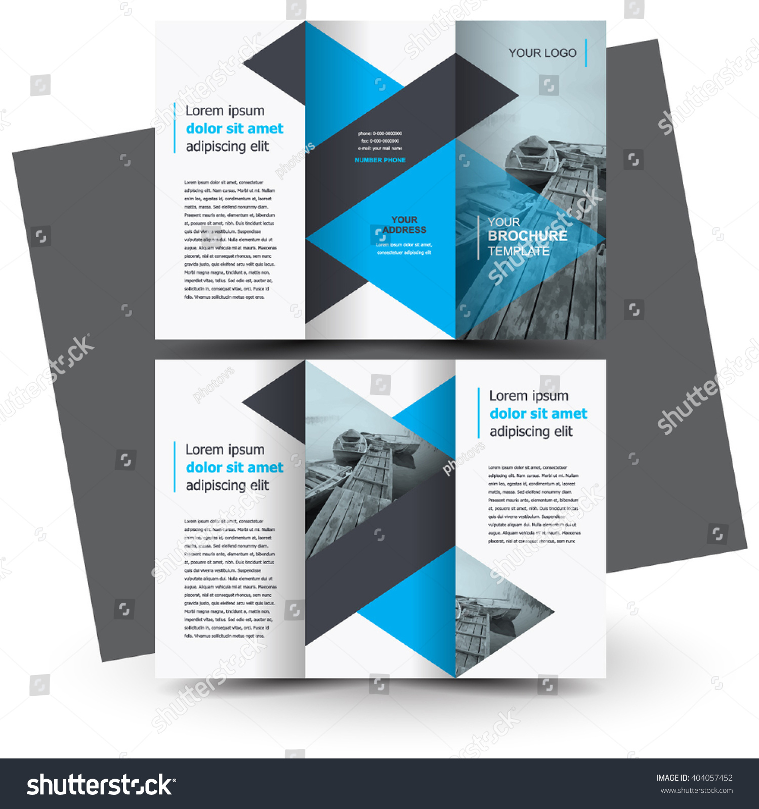 Brochure design brochure template creative trifold stock for Typography brochure design