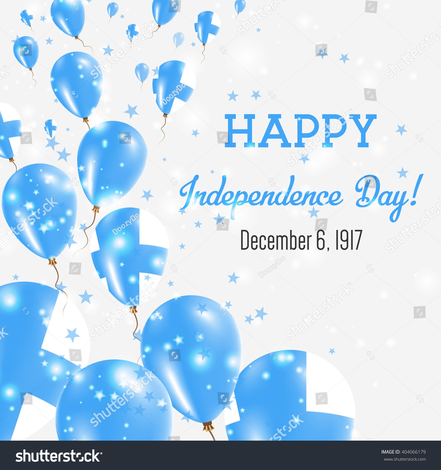 Finland Independence Day Greeting Card Flying Stock Vector 404066179 - Shutterstock