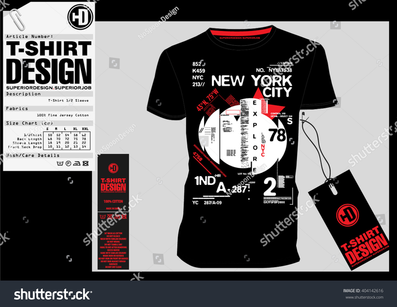 Design a t shirt nyc - Nyc New York District Stock Vector Illustration T Shirt Design Print