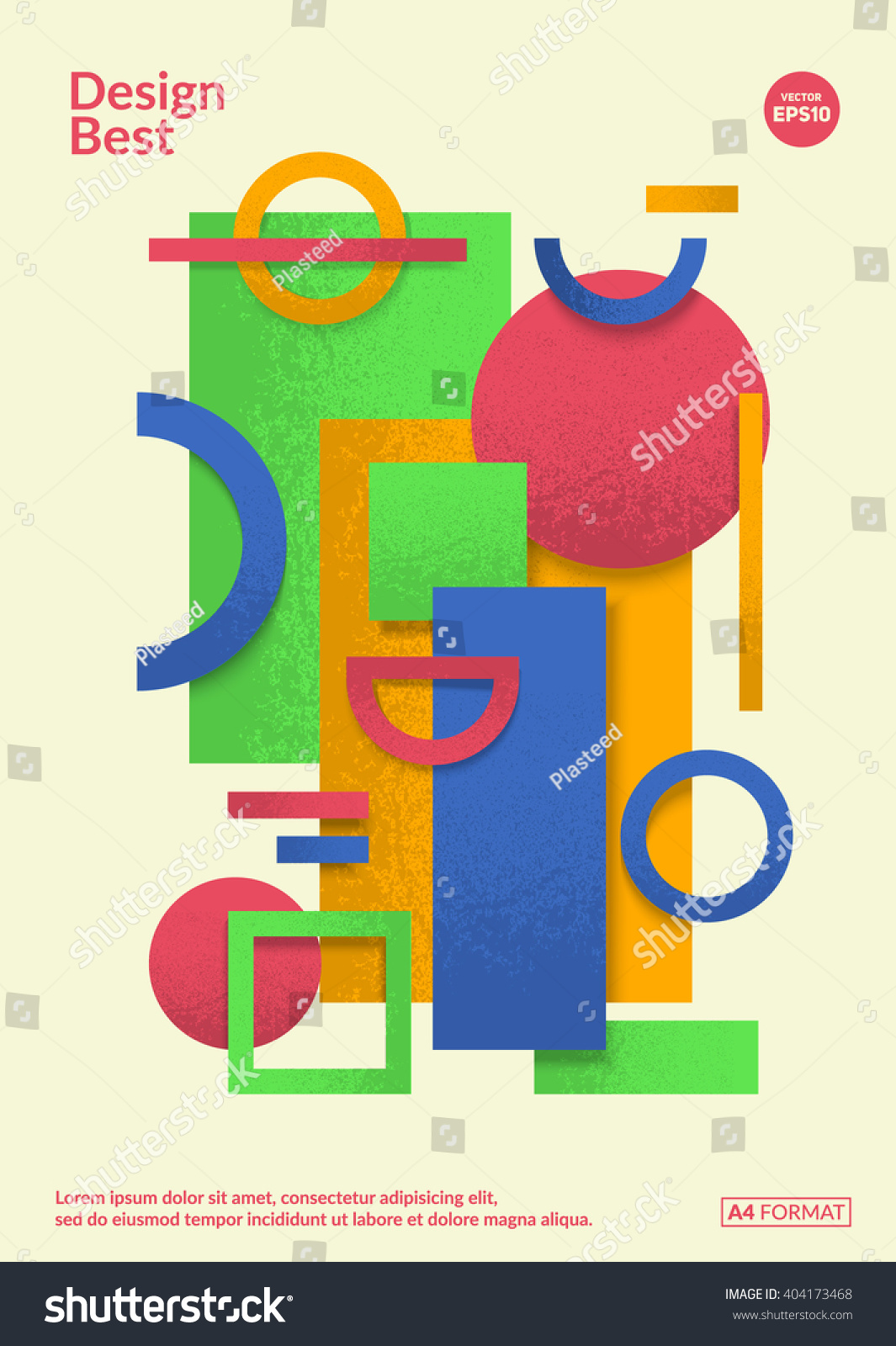 static design poster simple colorful geometric stock vector (royalty