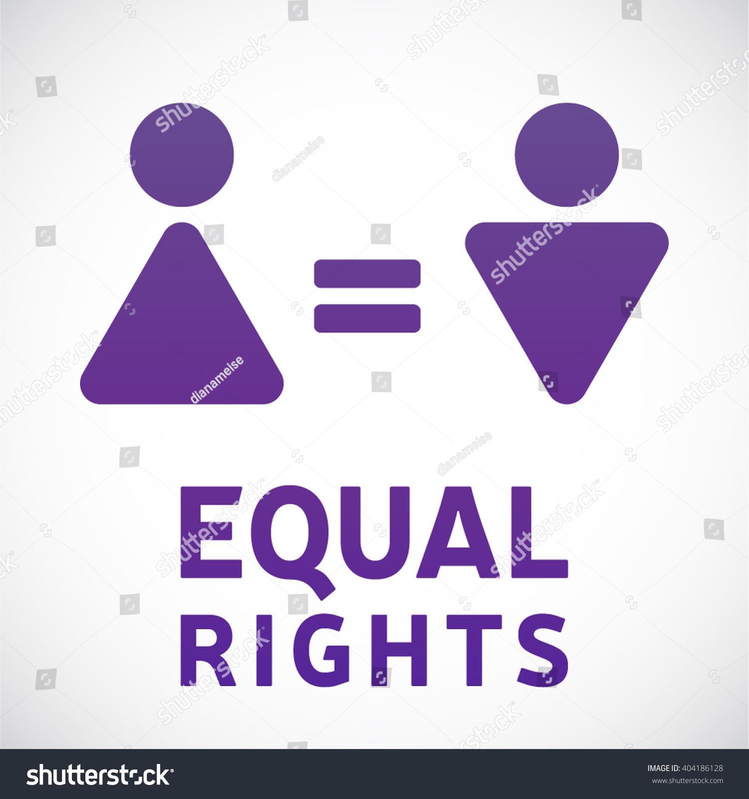 Equal Rights Concept Male Female Gender Stock Photo Photo Vector
