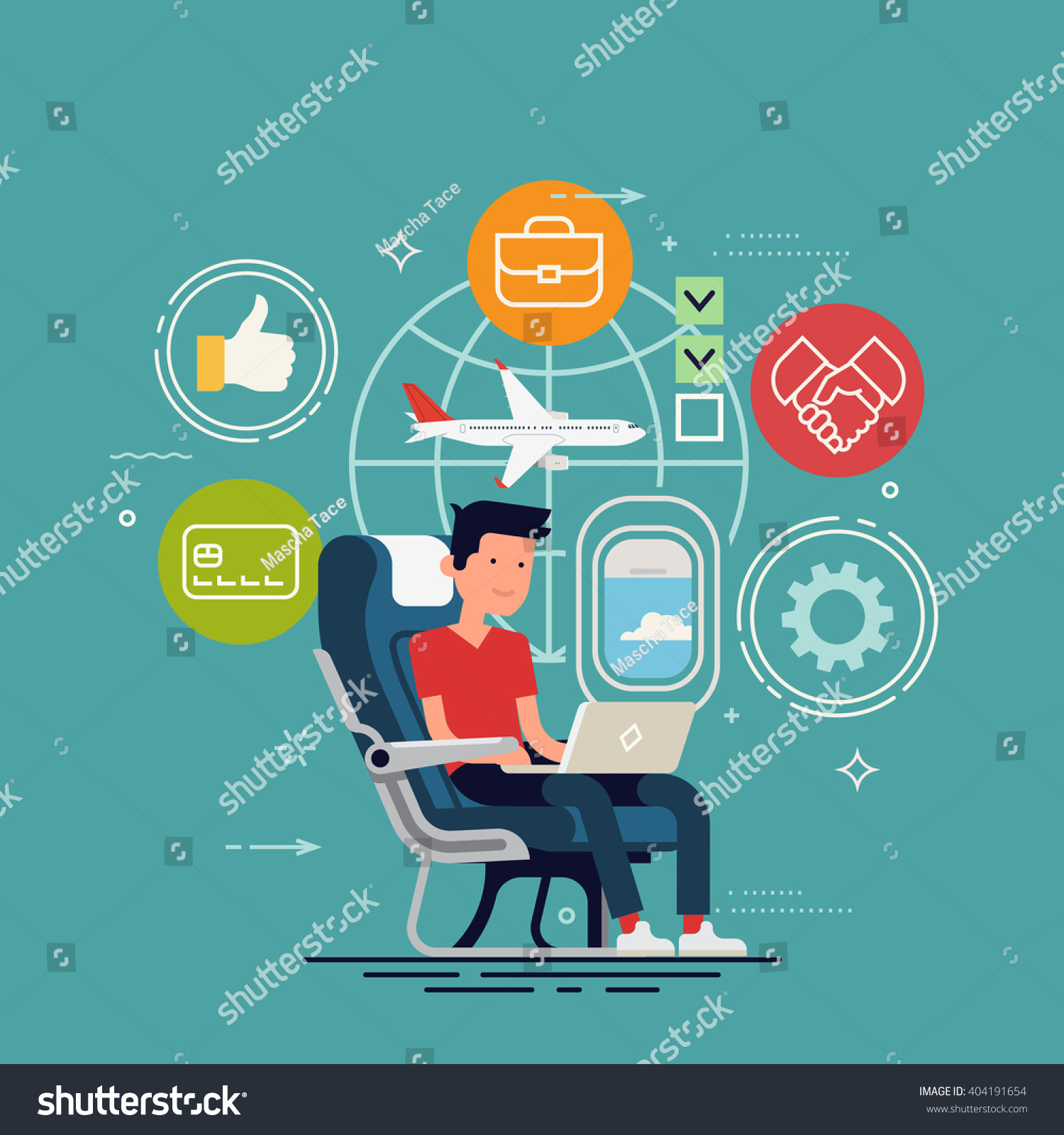 Cool Vector Concept Design On Man Working Online Using