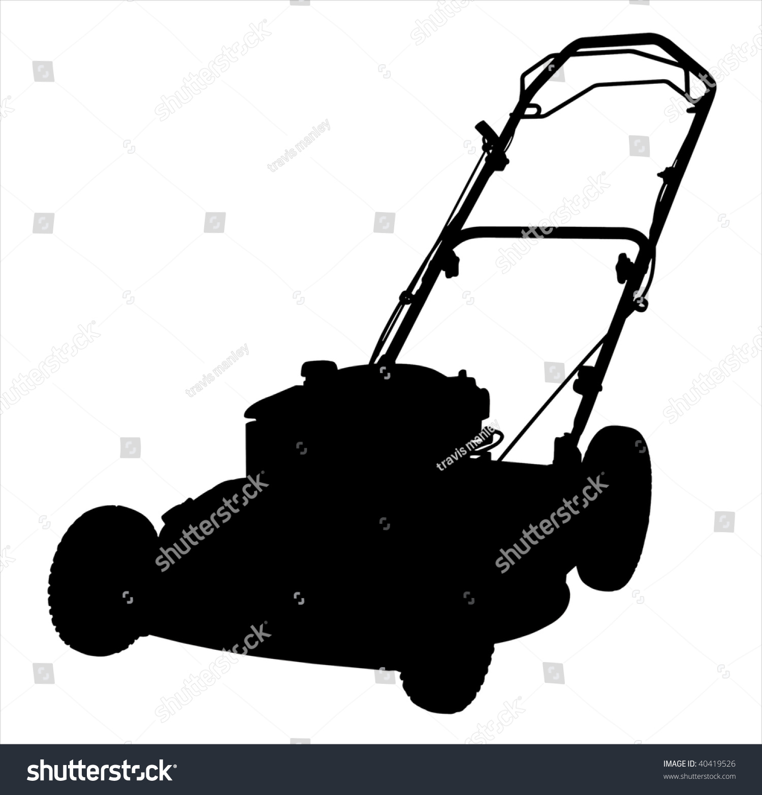 commercial lawn mower silhouette. an illustration of a lawnmower silhouette on white background. commercial lawn mower t