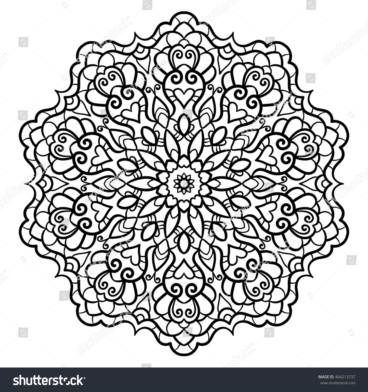 circle abstract coloring pages - photo#31