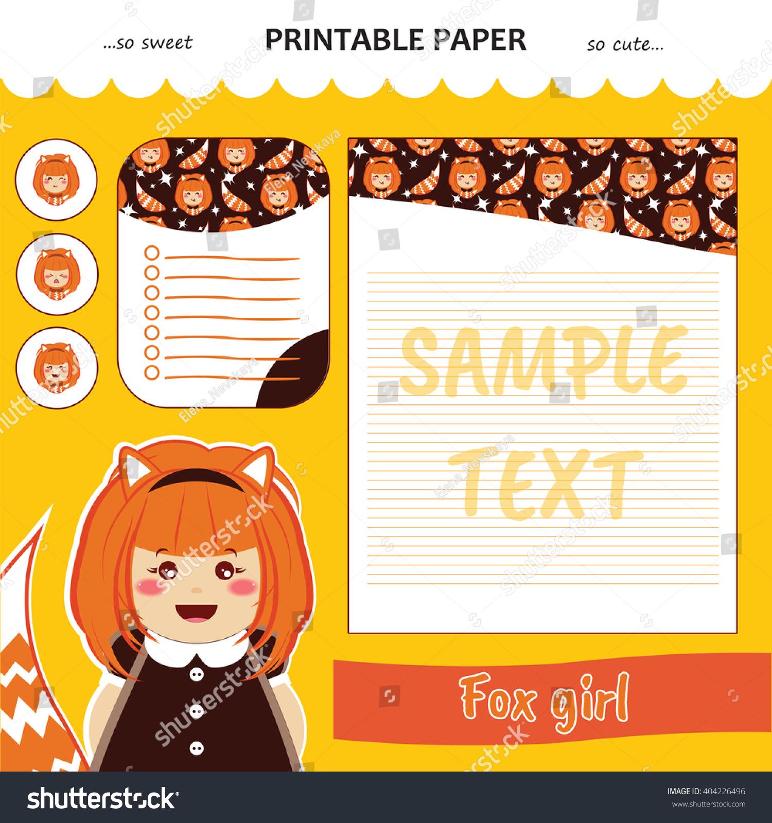 Kawaii Cute Set Vector Printable Paper Vector 404226496 – Diary Paper Printable