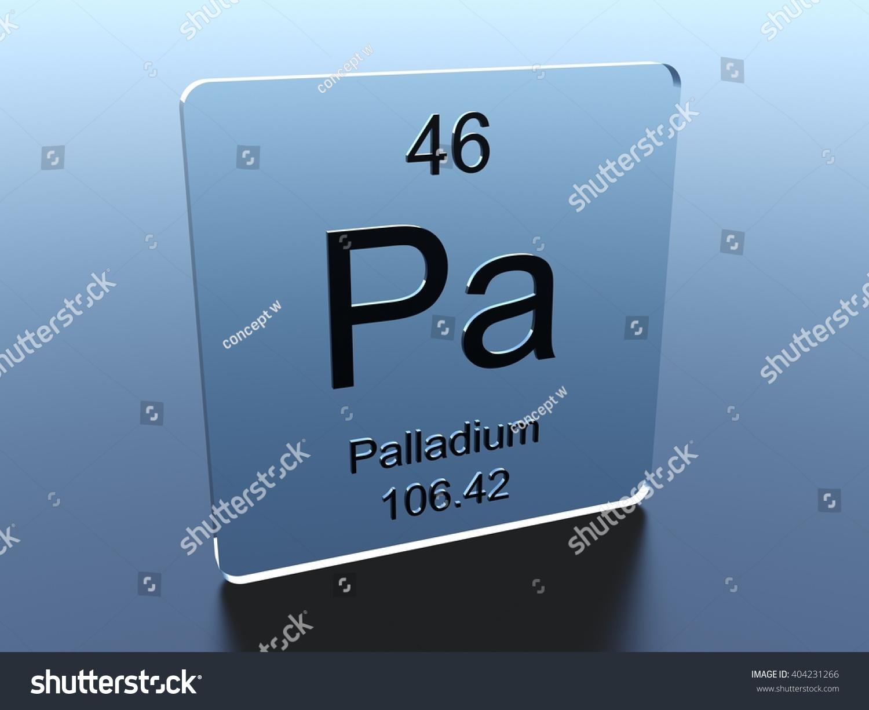 Palladium Symbol On Glass Square Stock Illustration 404231266