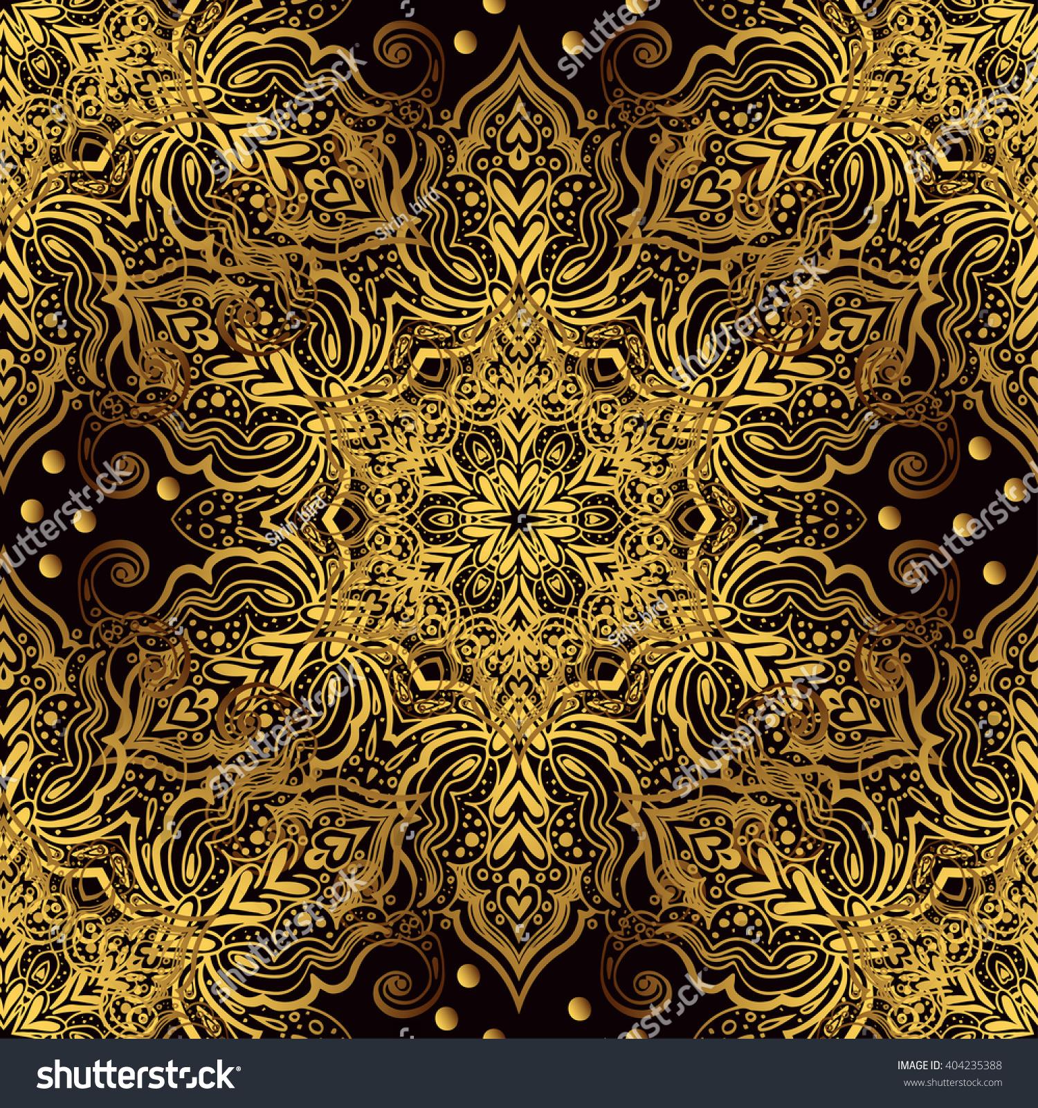 Vintage Luxury Background Black Backdrop Gold Stock Vector Royalty