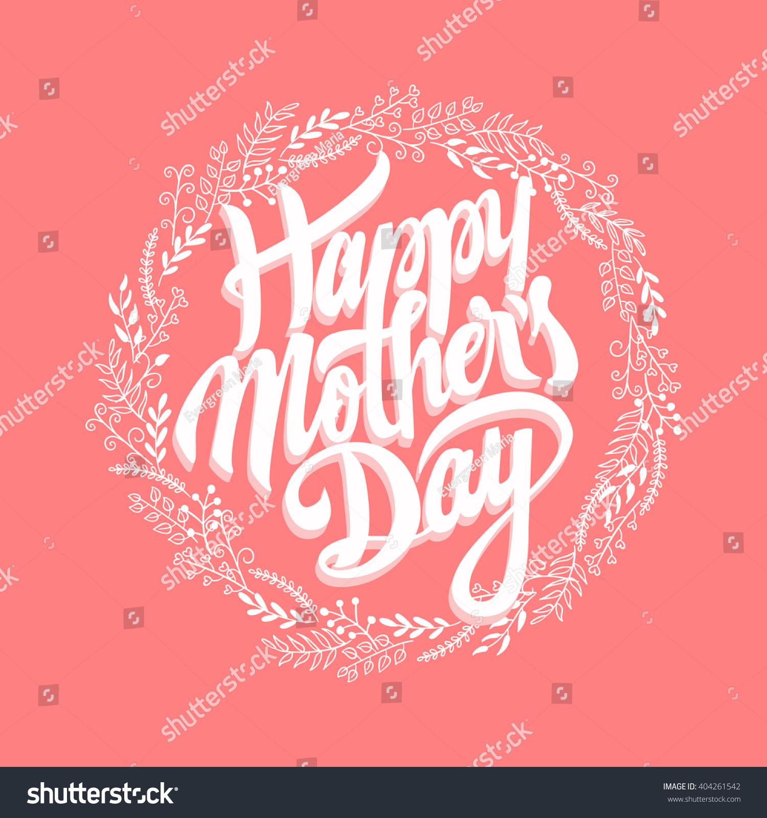 I Love You Mom Happy Mothers Day Flyer Template Psd Free: Happy Mothers Day Design Elements Vector Stock Vector