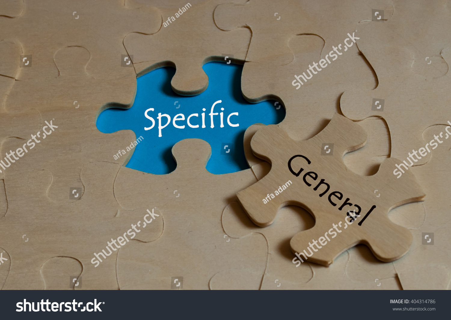 Puzzle antonym concept specific versus general stock photo puzzle with antonym concept of specific versus general biocorpaavc