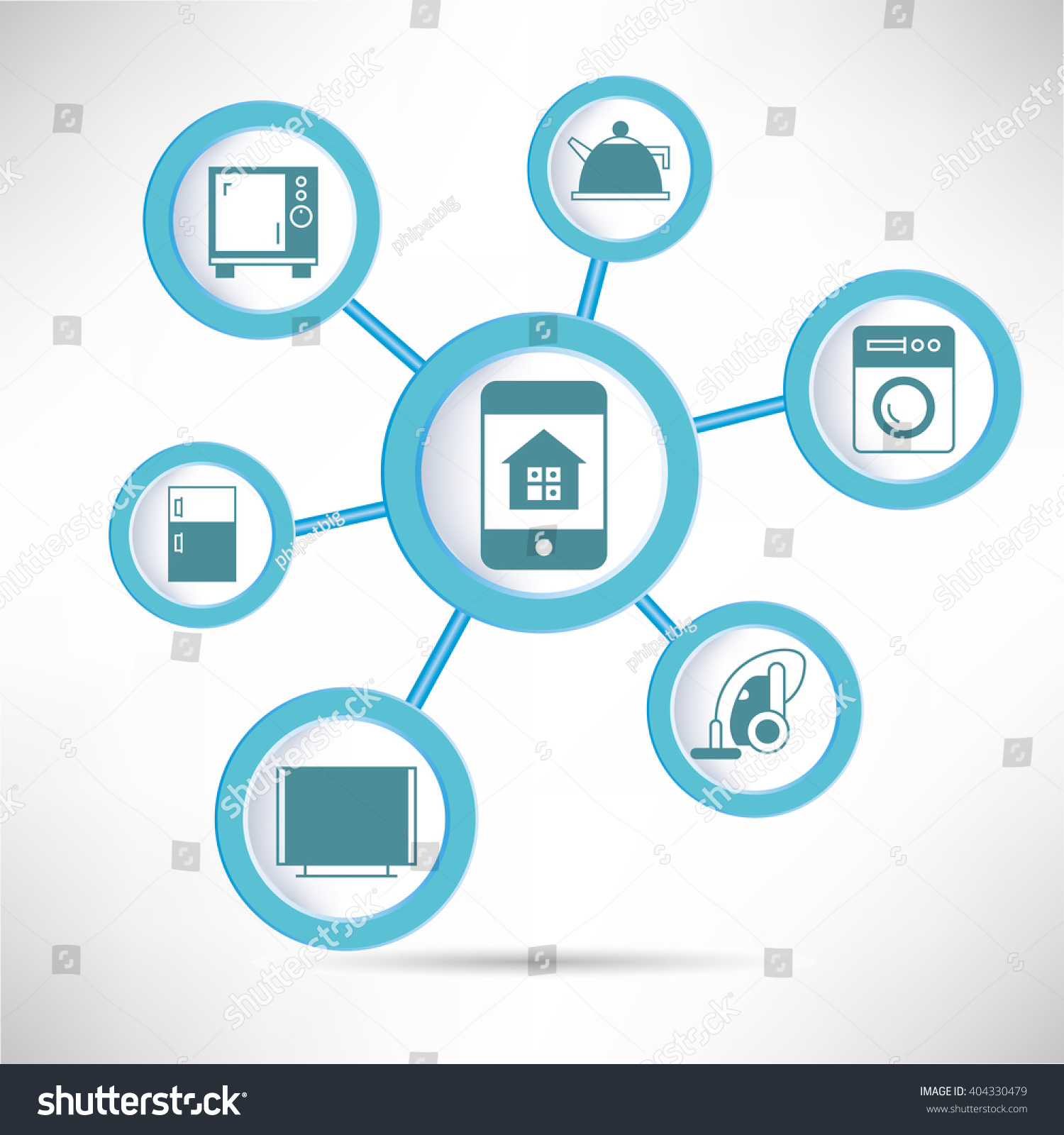 Home Automation Diagram Infographic Home Appliance Stock Photo ...