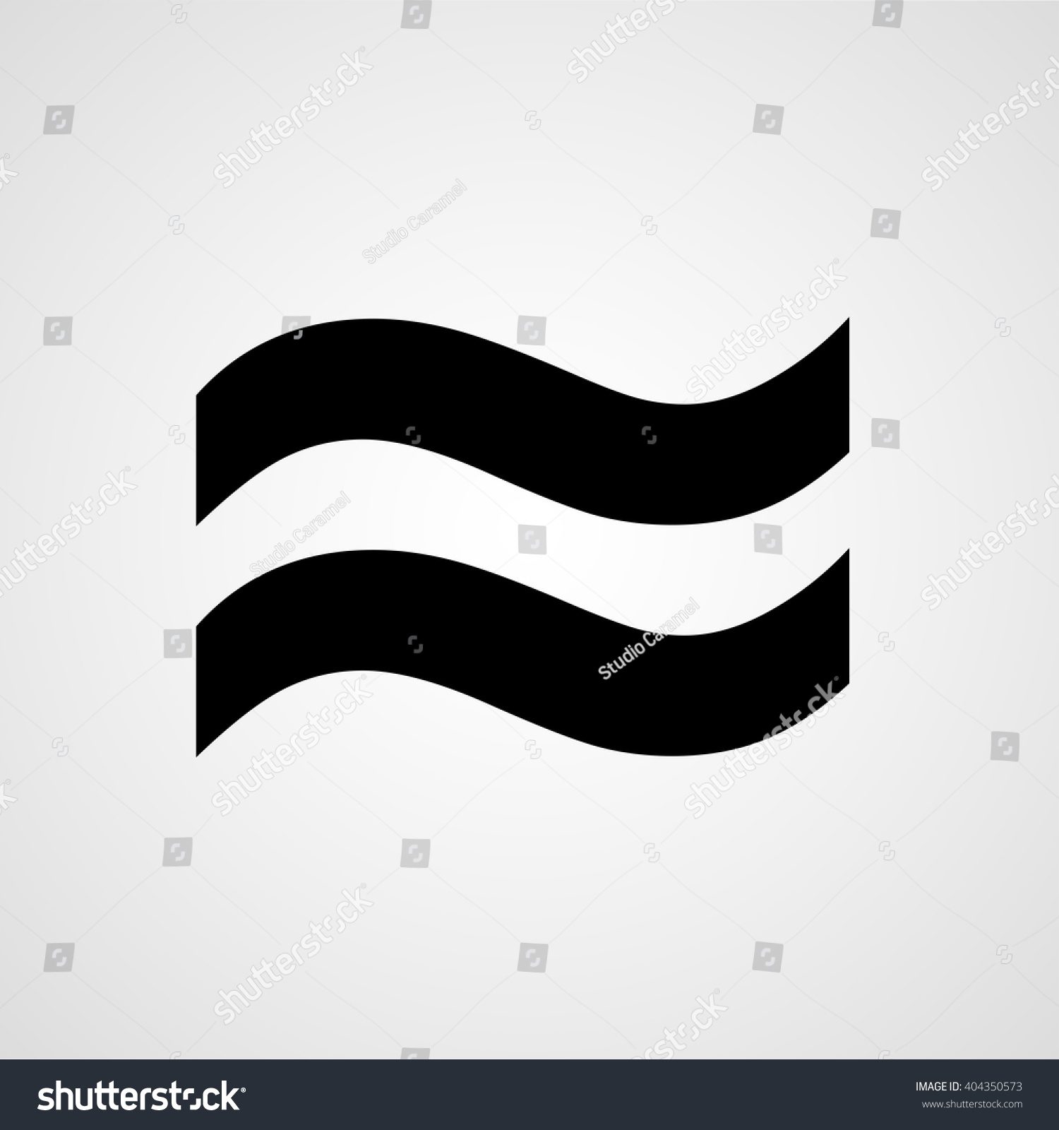 Approximately Equal Symbol Two Waves Vector Stock Vector Royalty