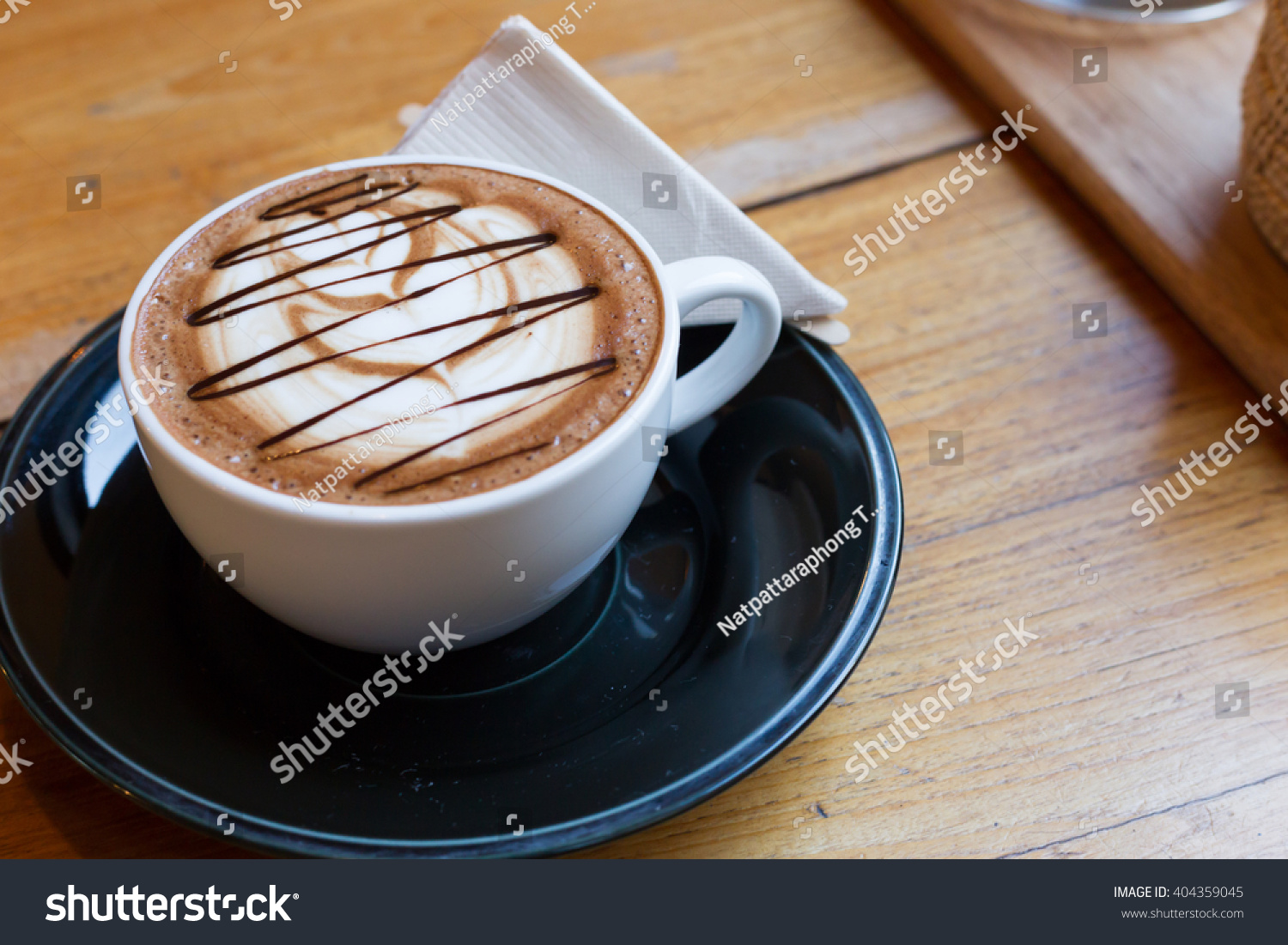 Mocha coffee in the wood table #404359045