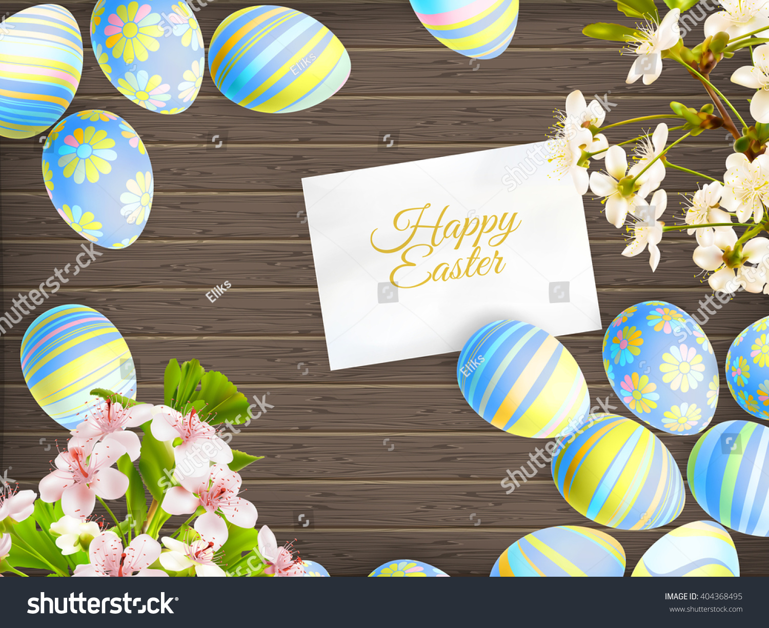easter eggs beautiful different colors lie stock vector 404368495