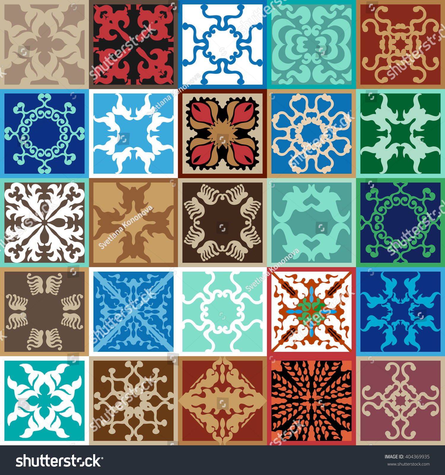 Set italian style ceramic tiles colorful stock vector 404369935 set of italian style ceramic tiles colorful mosaic with abstract floral and geometrical patterns dailygadgetfo Images