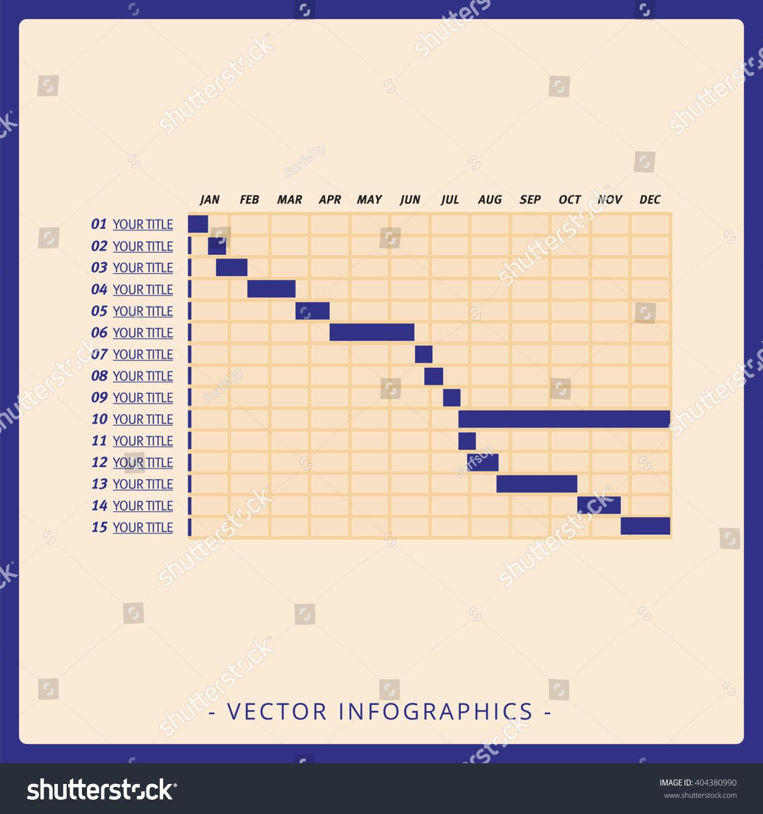 Gantt Chart Template Stock Vector Royalty Free 404380990