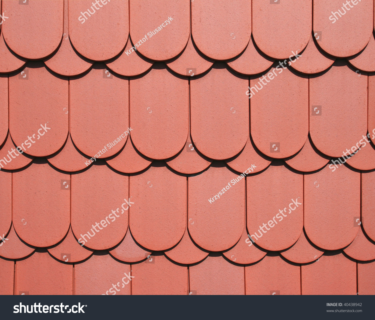 Red Ceramic Tile Roof Texture Architecture Stock Photo Edit Now