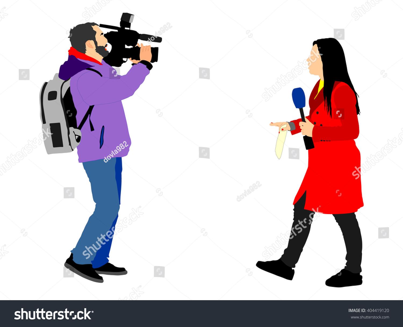Journalist News Reporter Clipart