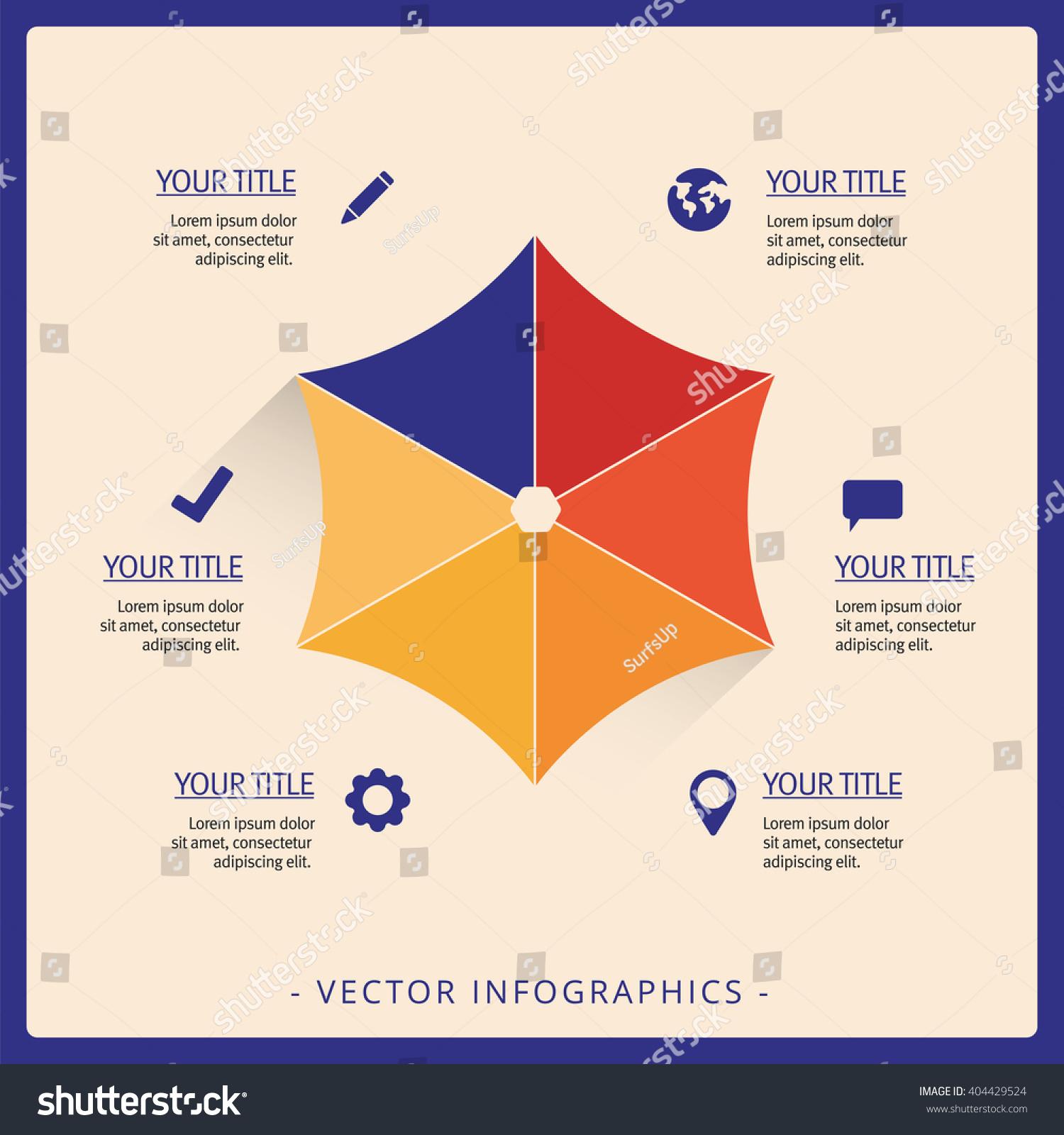 Umbrella Diagram Template Stock Vector 404429524 - Shutterstock