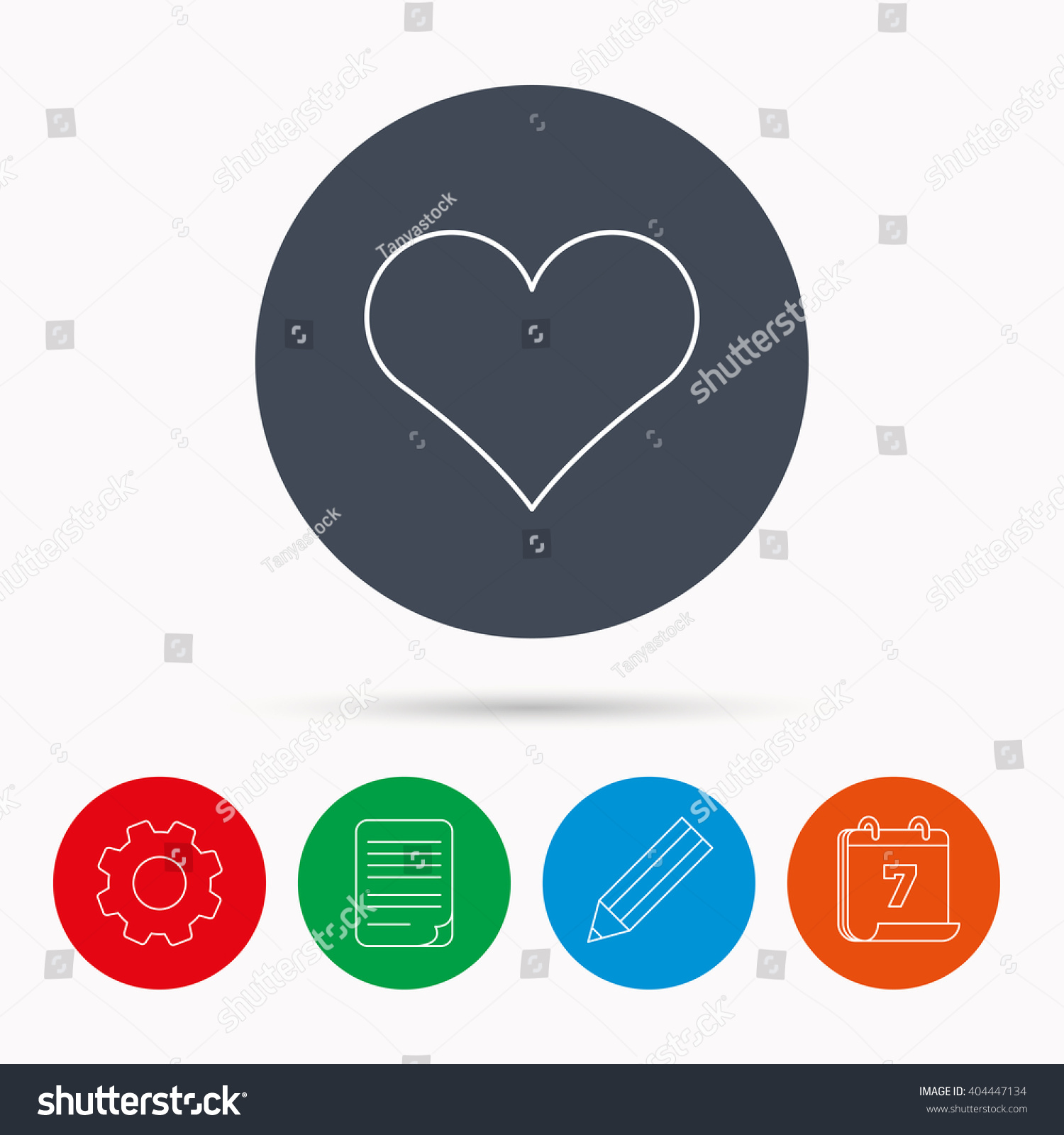 Heart Icon Love Sign Life Symbol Stock Vector 404447134 Shutterstock