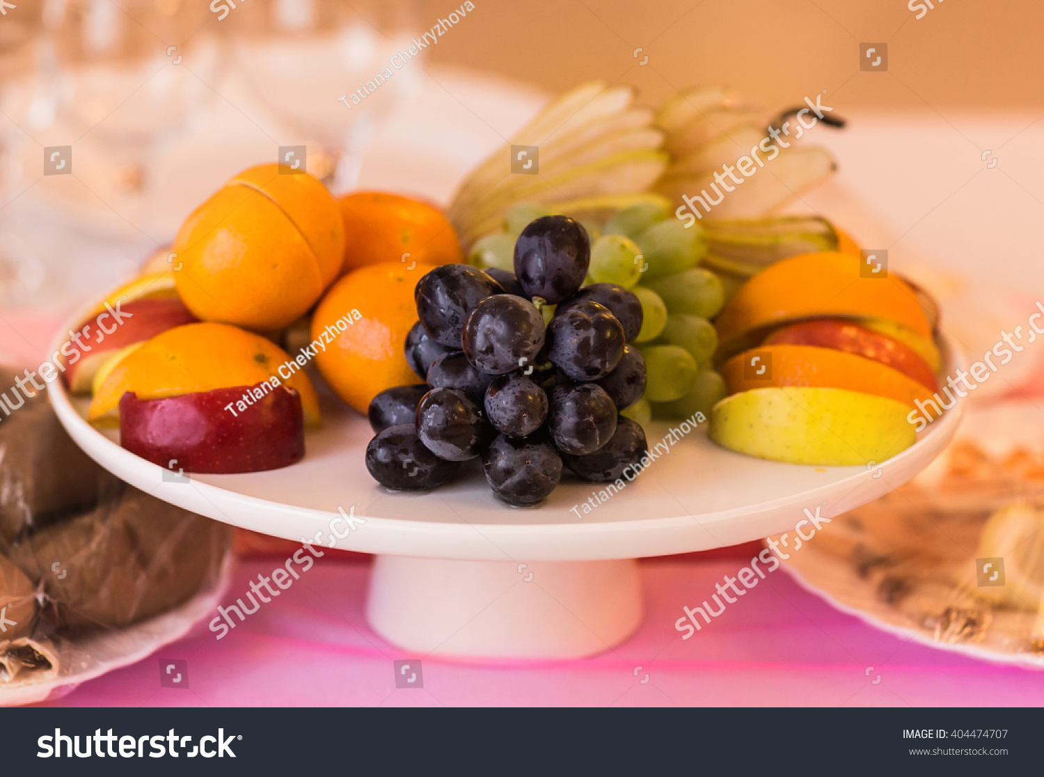 Fresh fruit party plate #404474707