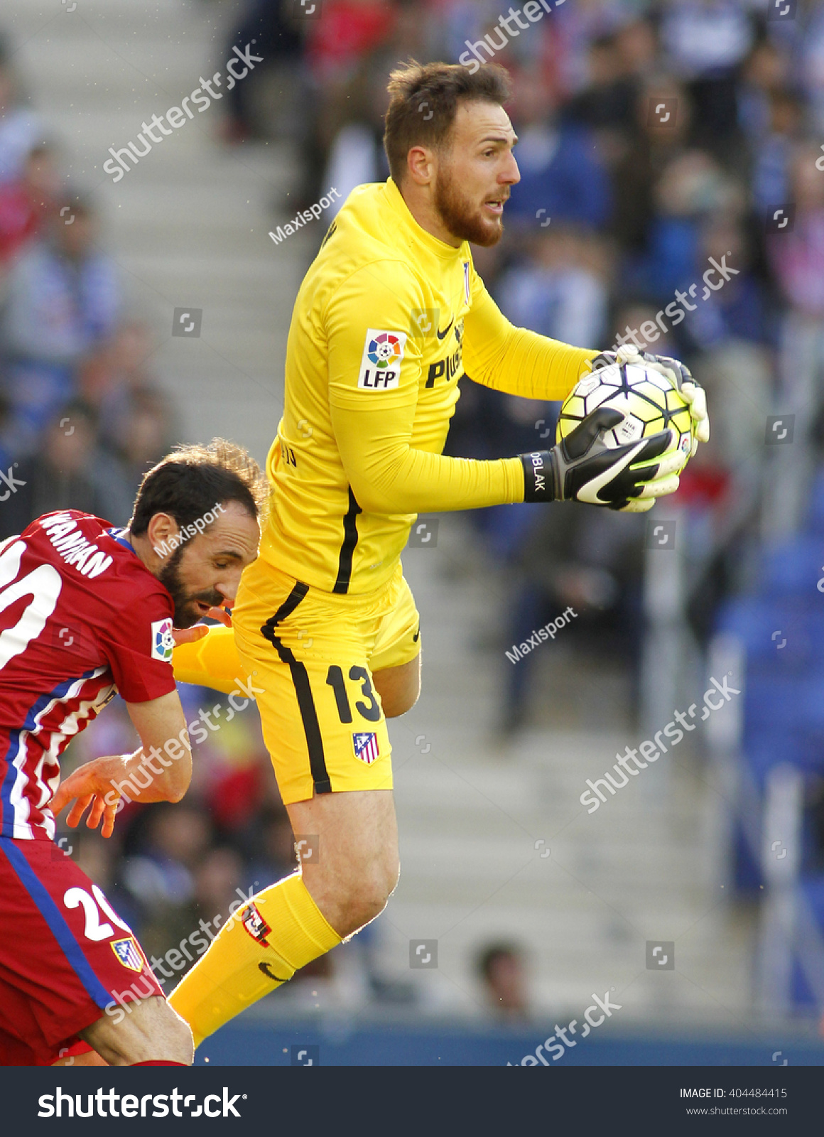 Barcelona April 9 Jan Oblak Atletico Stock