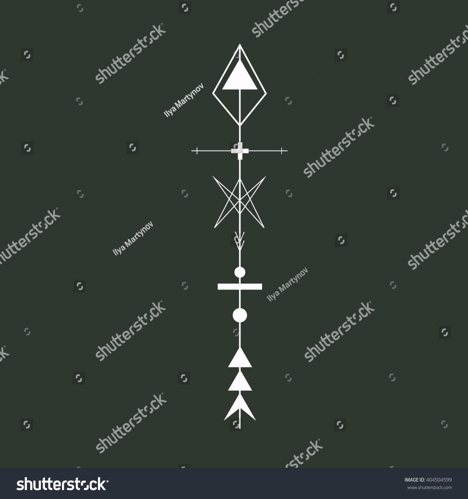 Geometric arrow design element vector illustration stock vector geometric arrow design element vector illustration sacred geometry magic runic symbol buycottarizona Choice Image