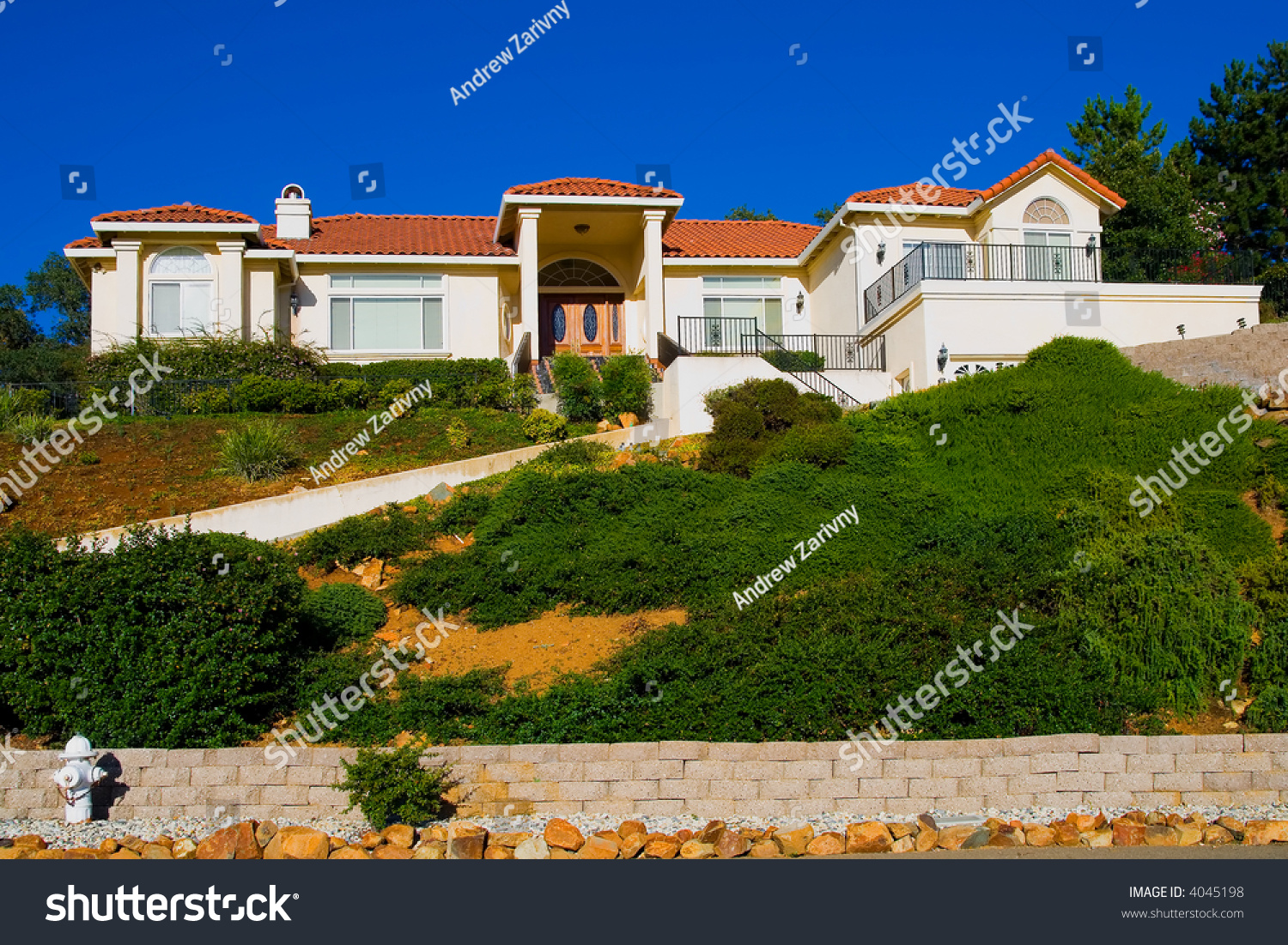 Big new house on the hill stock photo 4045198 shutterstock for New house big
