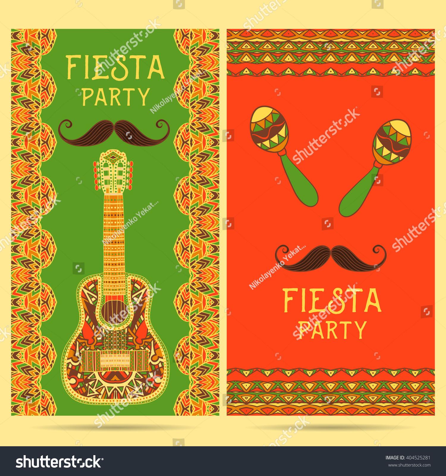 Beautiful Greeting Card Invitation Fiesta Festival Stock Vector