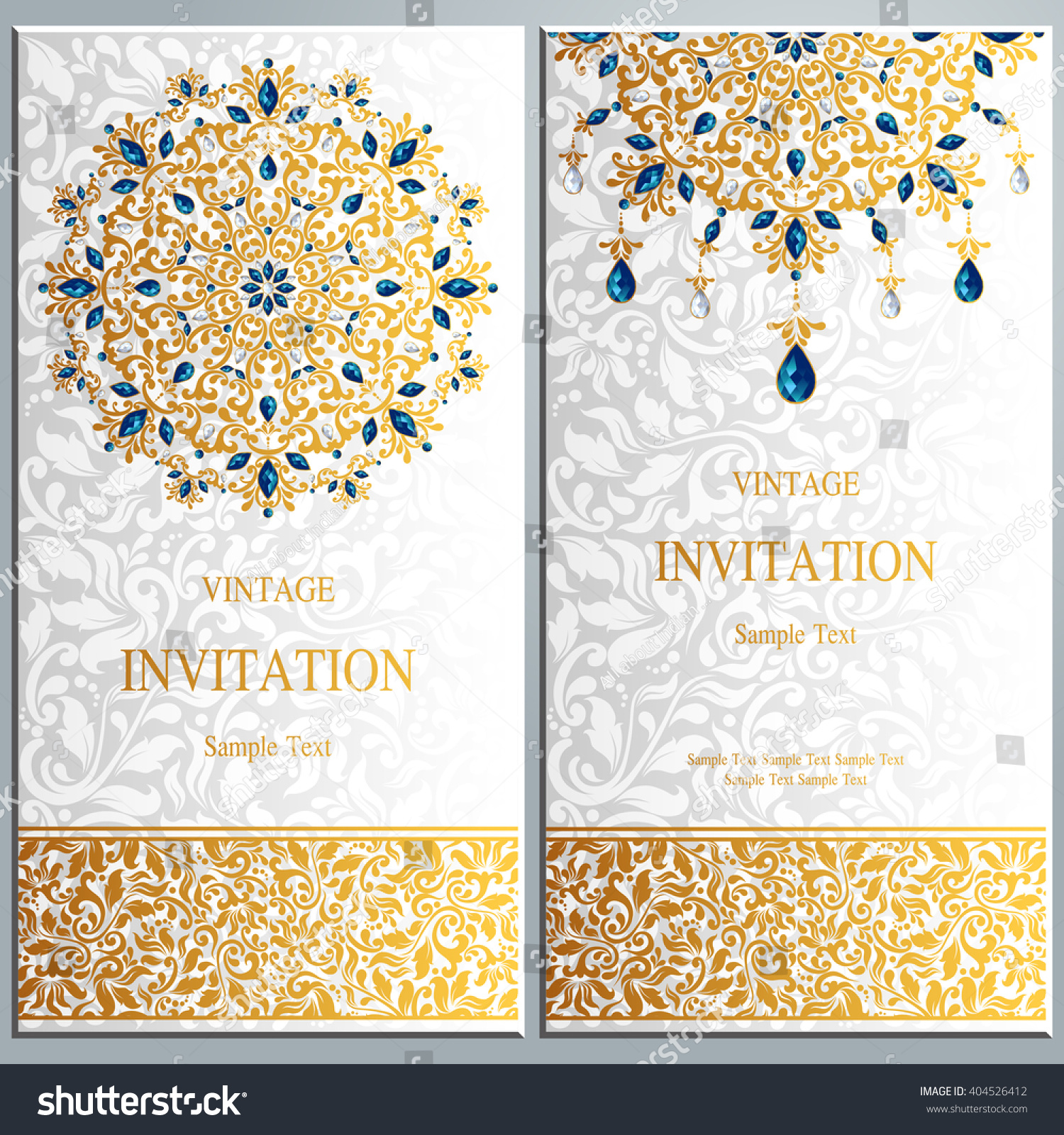 Wedding Invitation Card Abstract Background Islam Stock Vector (2018 ...