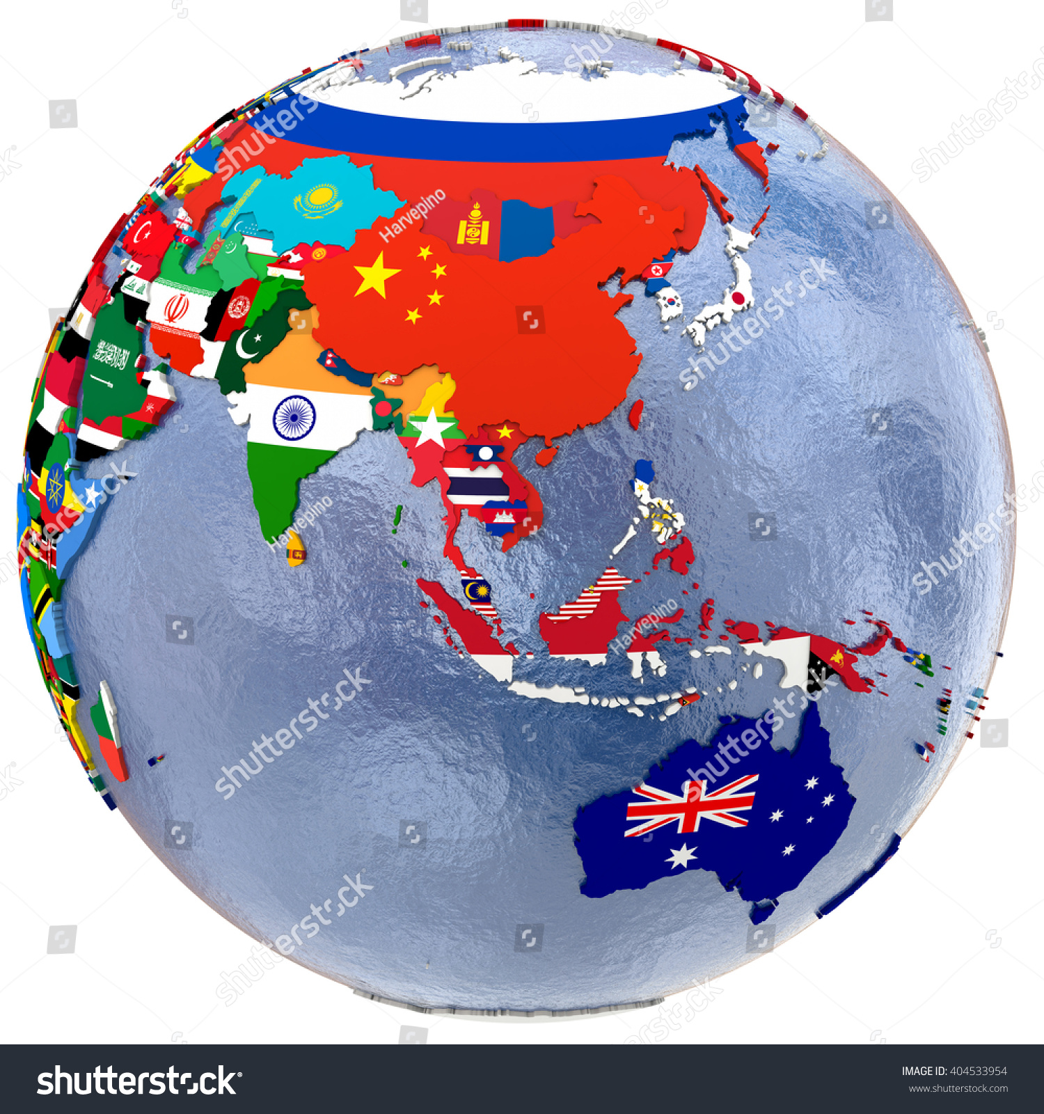 Political Map Of Southeast Asia And Australia With Each Country – South and East Asia Political Map