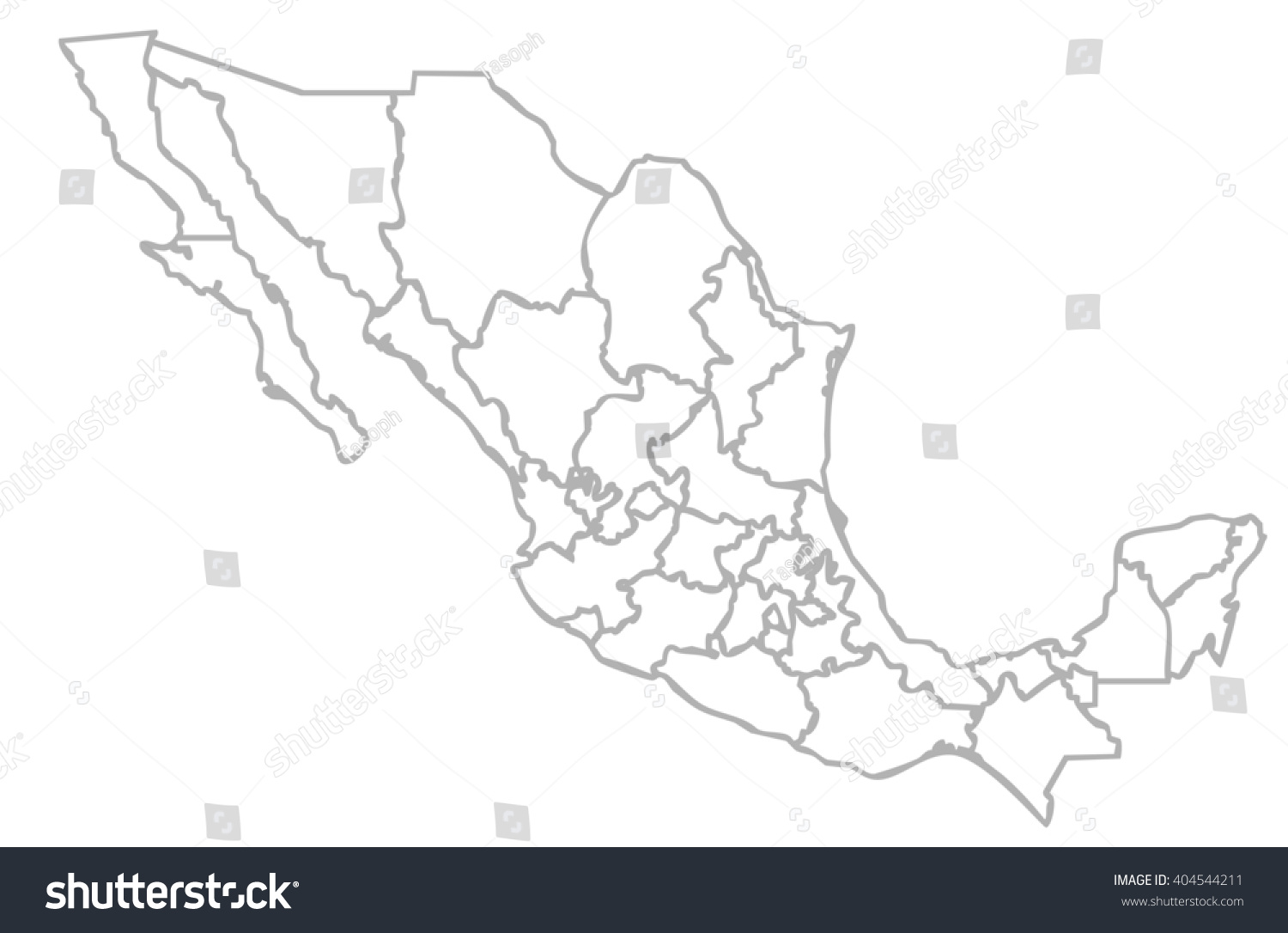 Isolated Political Mexican Map Mexico State Illustration – Mexicanmap
