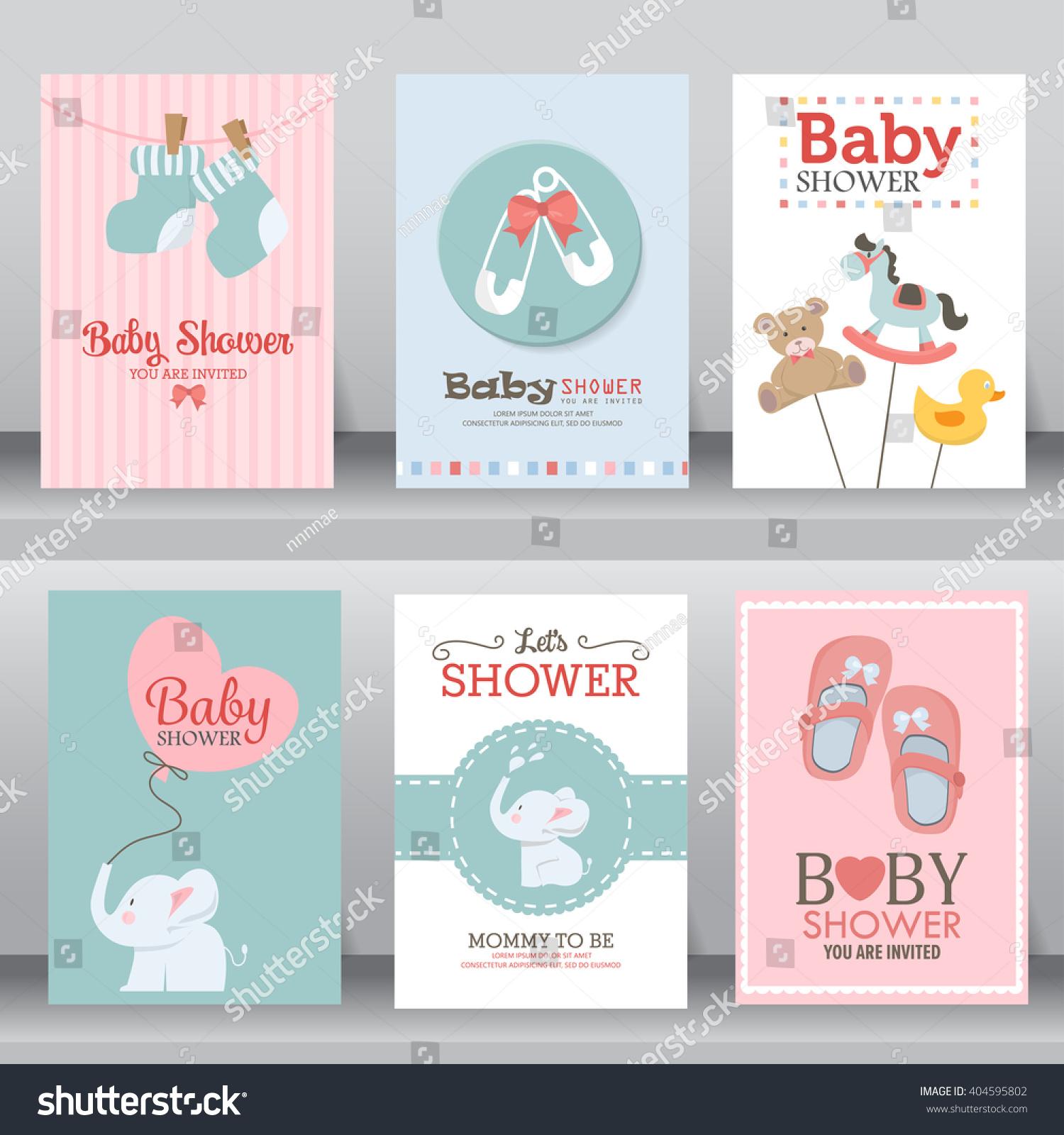 happy birthday baby shower newborn celebration stock vector 404595802