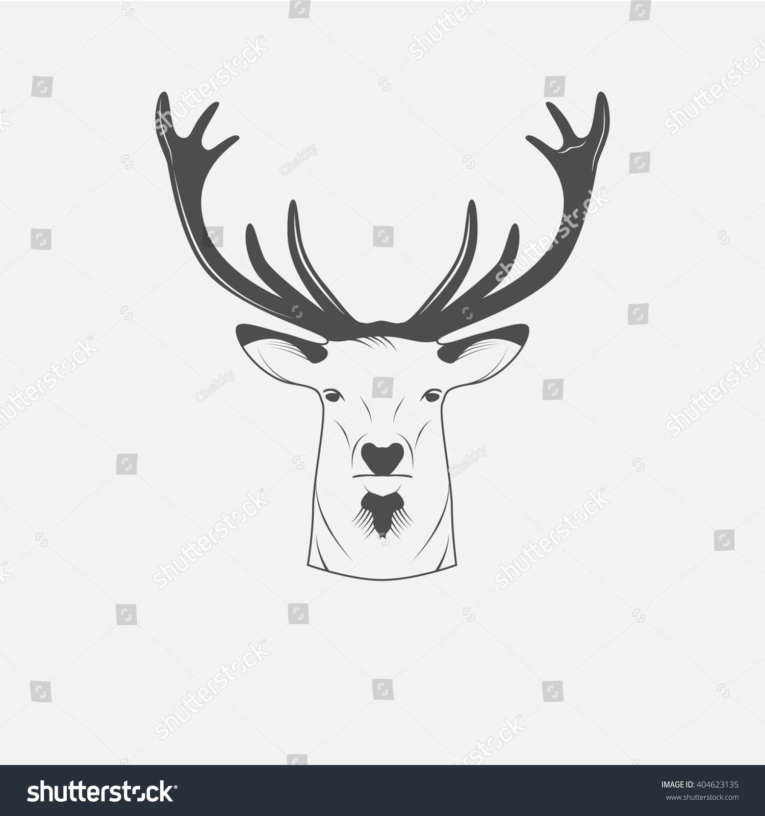 Deer illustration black and white - photo#7