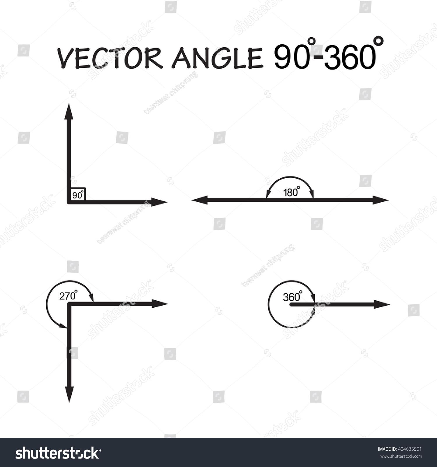 Vector angle 90360 degrees geometry math stock vector 404635501 vector angle 90 360 degrees geometry math signs symbols buycottarizona Gallery