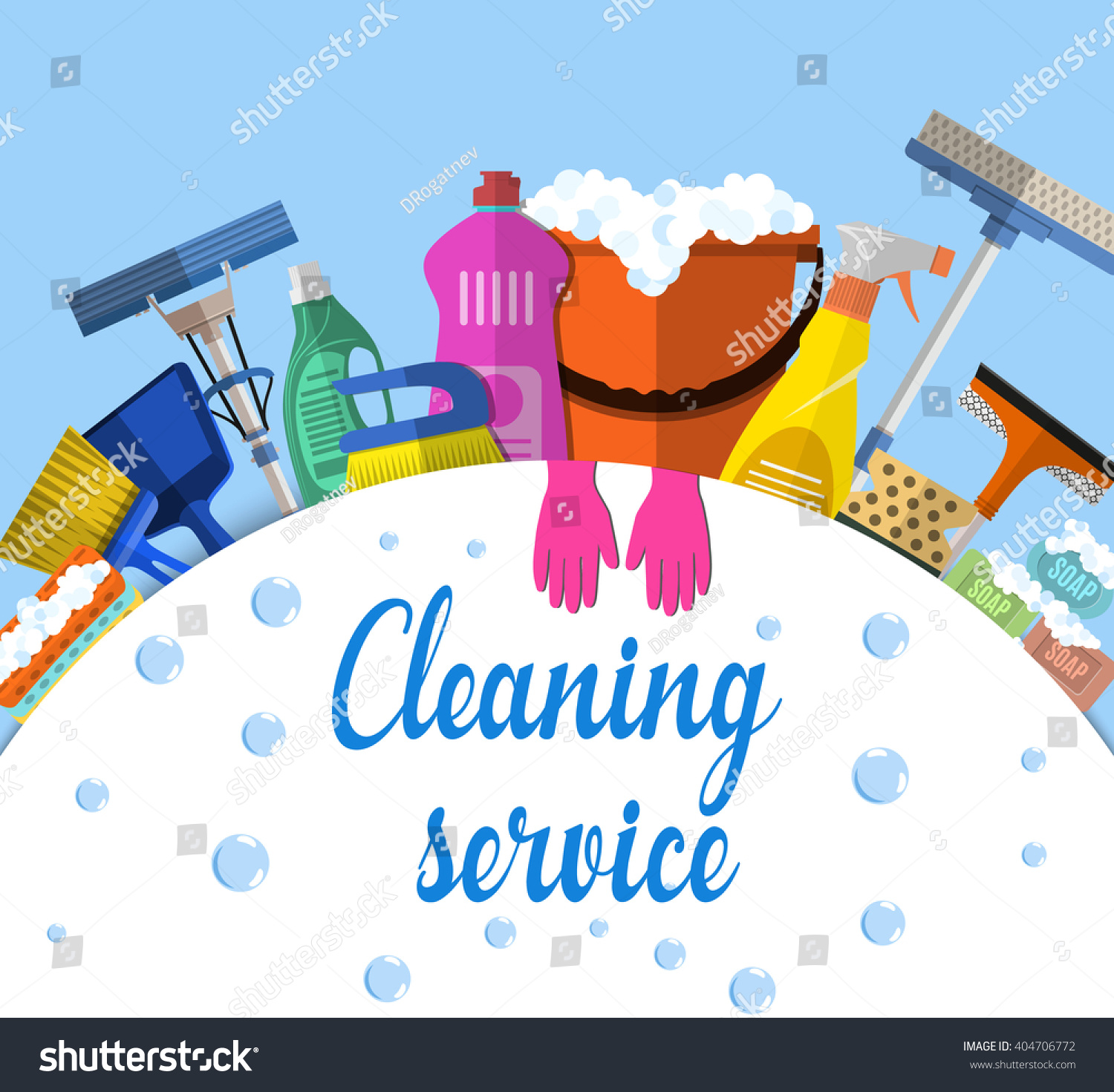 Cleaning service flat illustration poster template stock for House cleaning stock photos