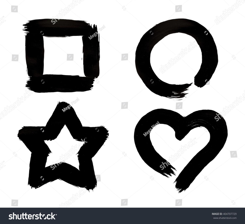 Square Circle Star Heart Symbols Black Stock Photo Edit Now