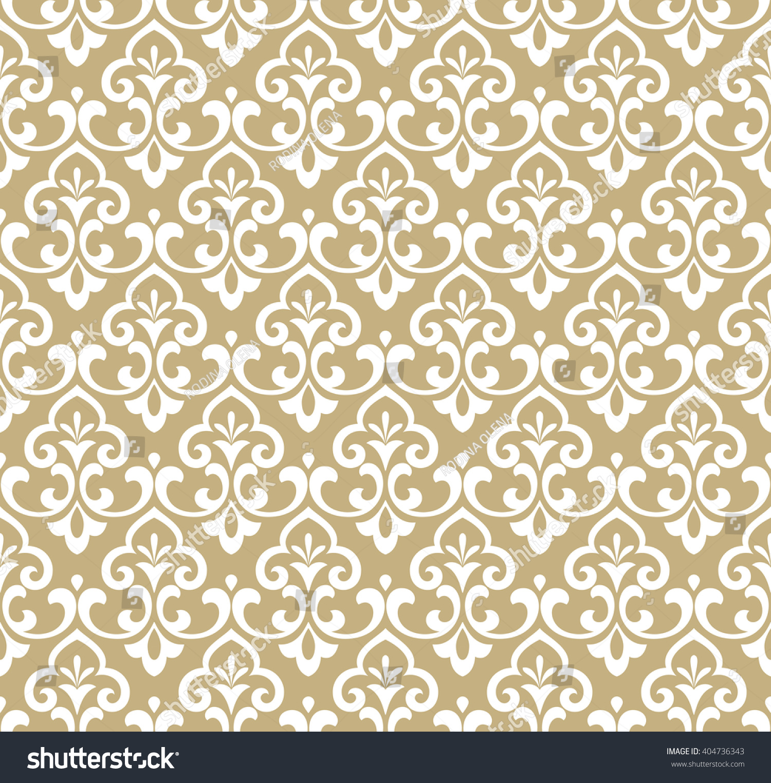 white and gold floral wallpaper - photo #44