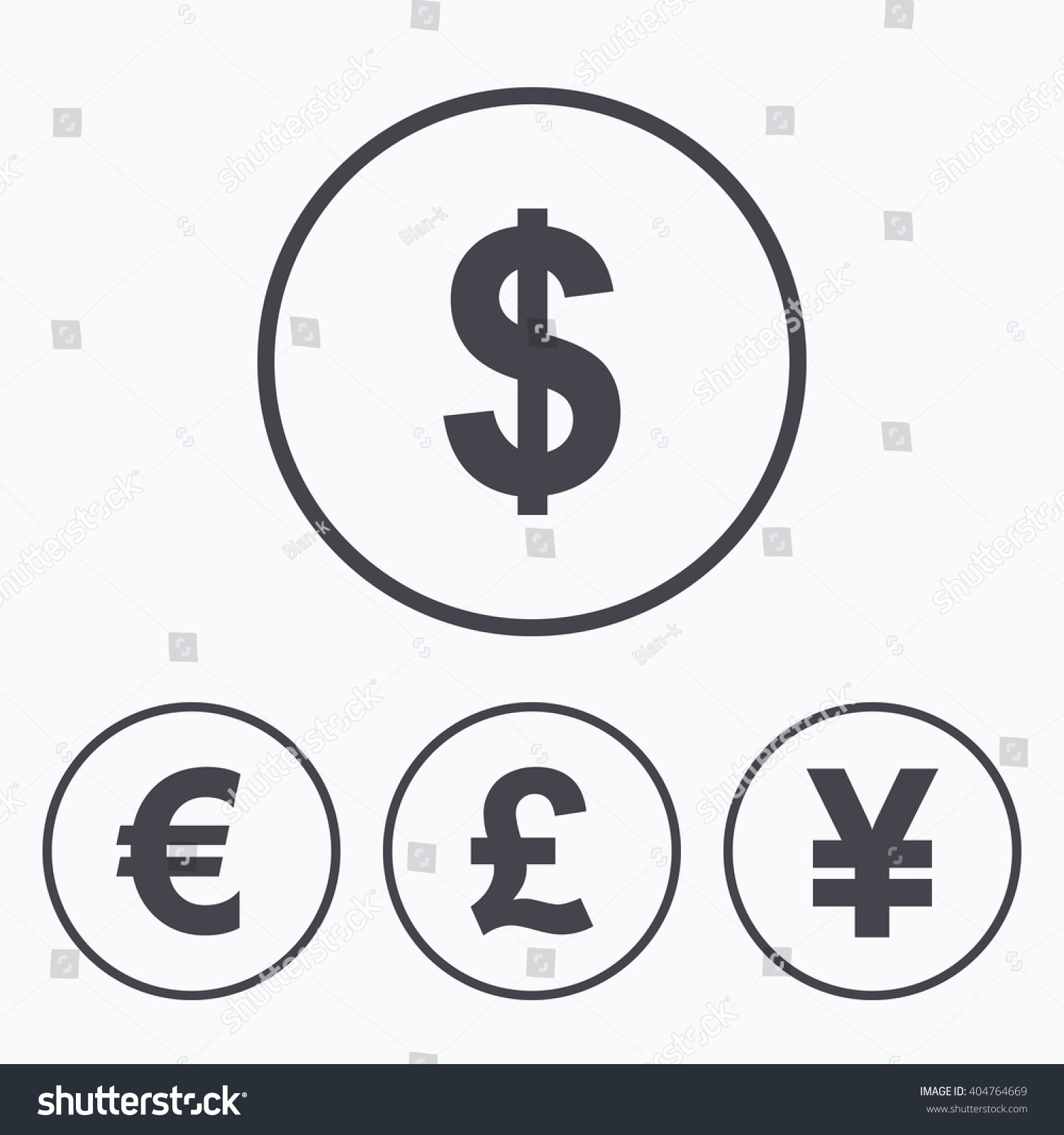 Dollar euro pound yen currency icons stock illustration 404764669 dollar euro pound and yen currency icons usd eur gbp and biocorpaavc Gallery