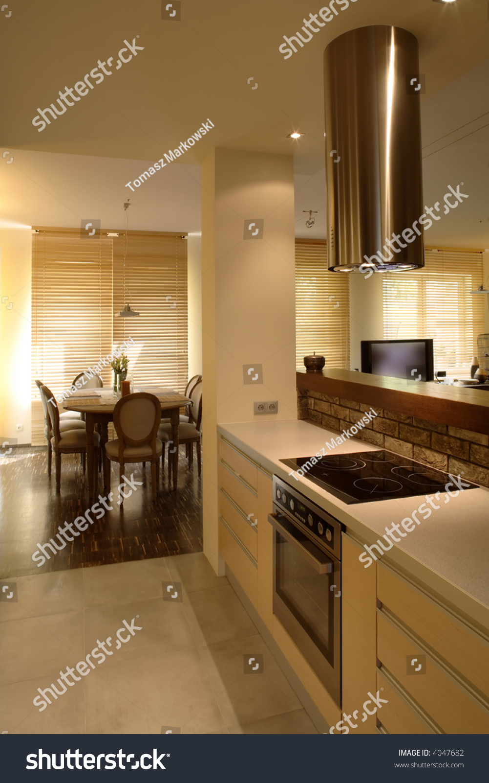 Kitchen in modern house #4047682
