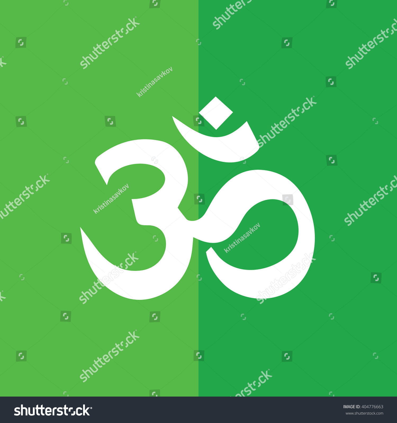 White Om Symbol Hinduism Vector Icon Stock Vector 404776663